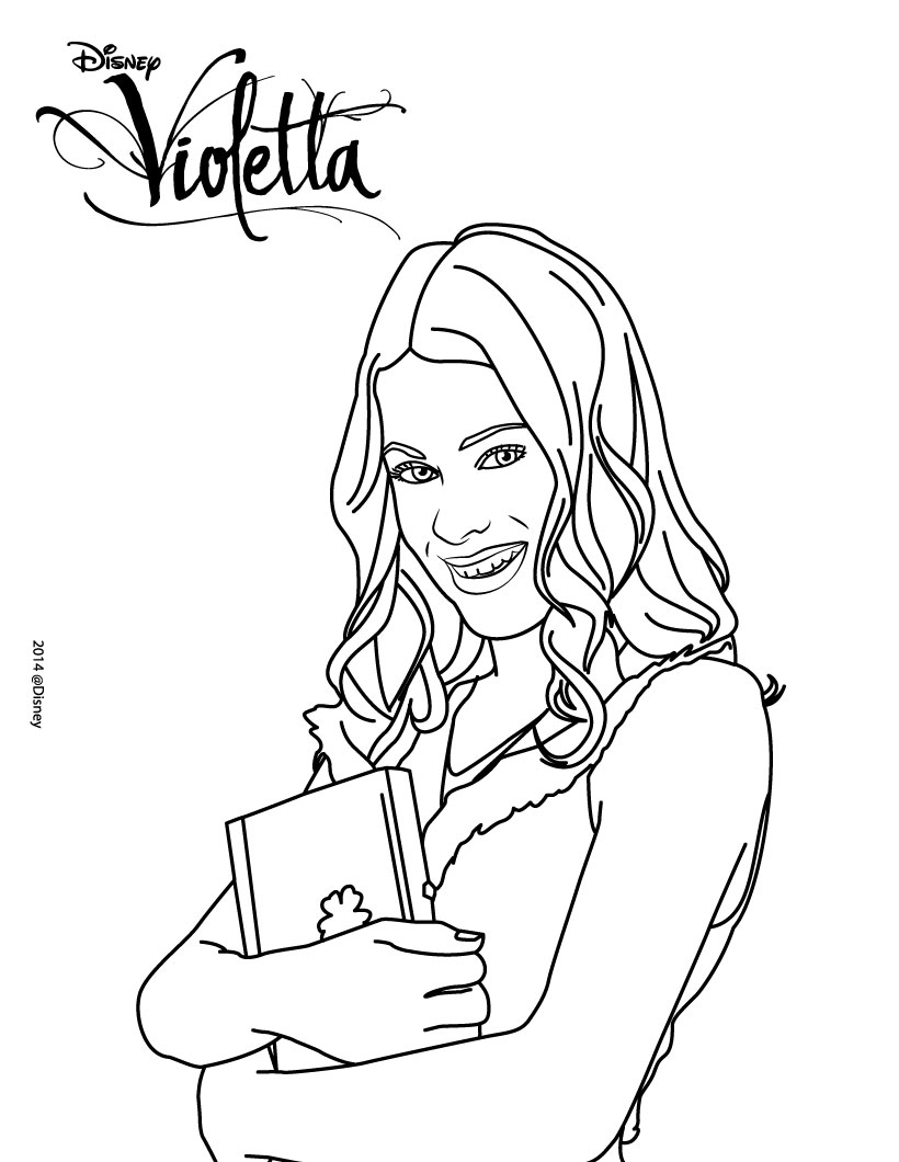 Coloring pages violetta - View Larger Image